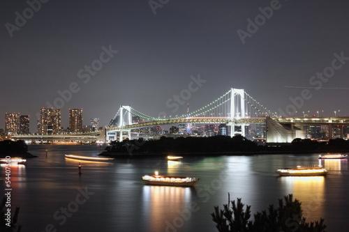 レインボーブリッジ 東京タワー 夜景