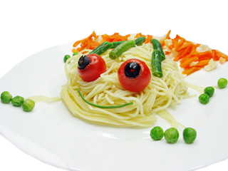 creative pasta food frog shape