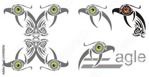 Ornate eagle symbols