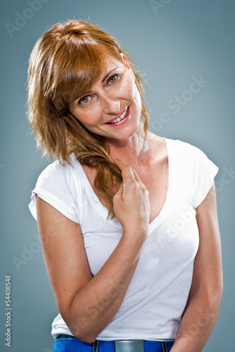 Young Happy Woman Smiling
