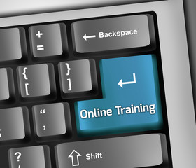 "Keyboard Illustration ""Online Training"""