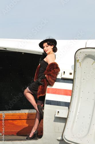 glamorous retro lady