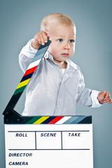 Cute Baby a Cinema Slate