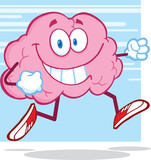 Healthy Brain Character Jogging