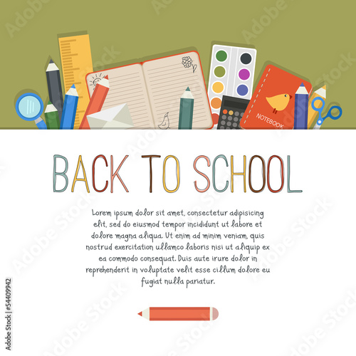 Back to school. Vector background with empty place for your text