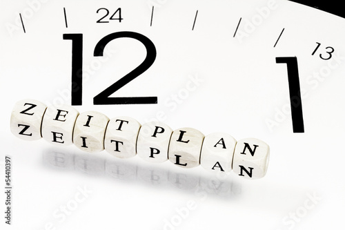 Leinwandbild Motiv Zeitplanung