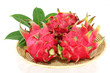 dragon fruits isolated on white background