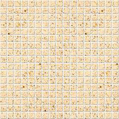 Illustration of beige Tile mosaic background for design
