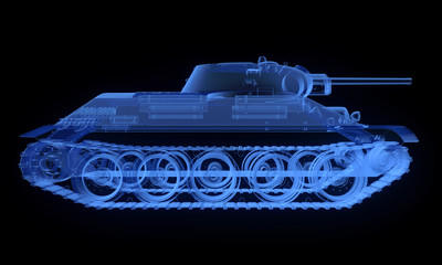 X-ray version of soviet t34 tank