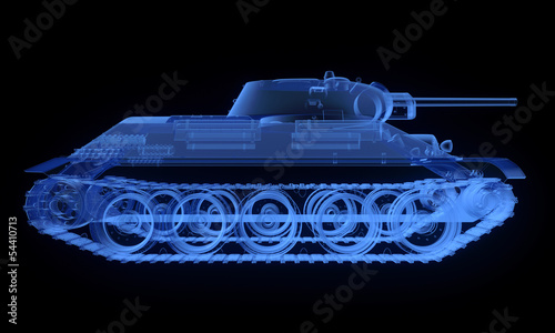 X-ray version of soviet t34 tank © Zelfit