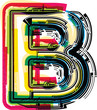 Colorful Grunge LETTER B