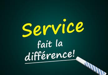 Publicité: Service fait la différence! (client, marketing)