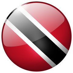 Trinidad And Tobago Round Glass realistic Button