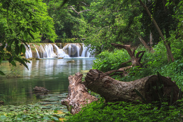 Waterfall in tropical forest,Saraburi province