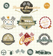Vector Set: Retro Car Racing Labels and Icons