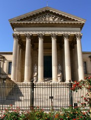 Front view of the courthouse of Montpellier, France