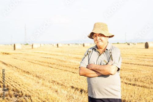 happy farmer in the fields