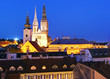 Zagreb city at night - Croatia