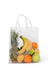 Plastic Bag With Fruits