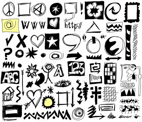 doodle design elements background
