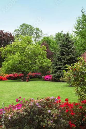 Panel Szklany Colourful spring garden