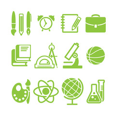 education school symbol vector collection
