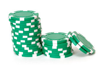 green poker chips