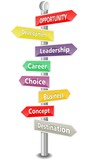 OPPORTUNITY - word cloud - colored signpost -NEW TOP TREND