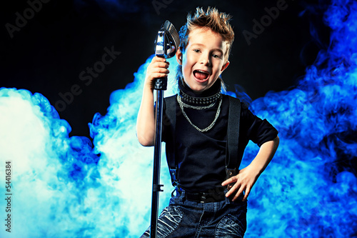 cool boy singing