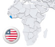 Liberia on Africa map