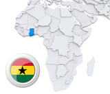 Ghana on Africa map