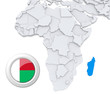 Madagascar on Africa map