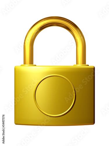 golden padlock