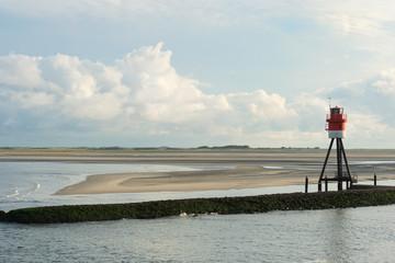 Beacon at island Borkum