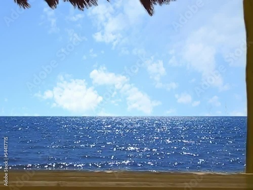 Sea background with wooden boards
