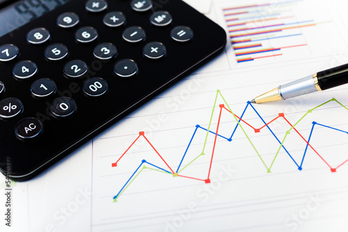 Calculator and financial charts
