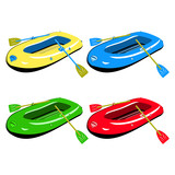 Four colour inflatable boats