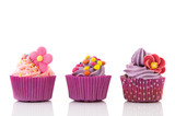 Purple and pink cupcakes - Fine Art prints