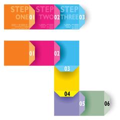 Infografica esempi fascette colorate carta biglietti