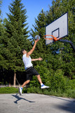 Basketball player dunk