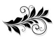 Decorative floral element with shadow