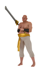 Harem eunuch  with sword