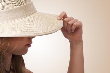 silueta con sombrero