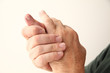 man with an aching little finger