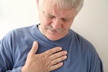 chest pain in older man