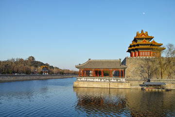 Watchtower of Forbidden City and Jingshan park