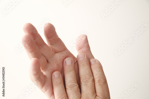 mature man hands