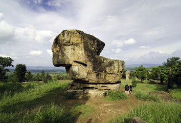 Giant rock at Mor Hin Khao, Chaiyaphum province, Thailand