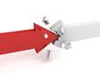 red success arrow breaks white opponent