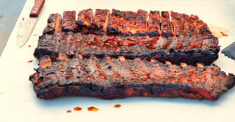 Platter of Barbecued Ribs